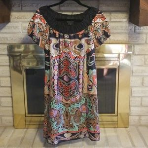 Anna Sui for Anthropologie Silk Floral Print Dress